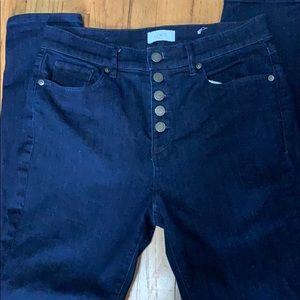 Loft outlet size 6 button fly skinny jeans